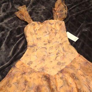 Tobi yellow short dress NWT size XS